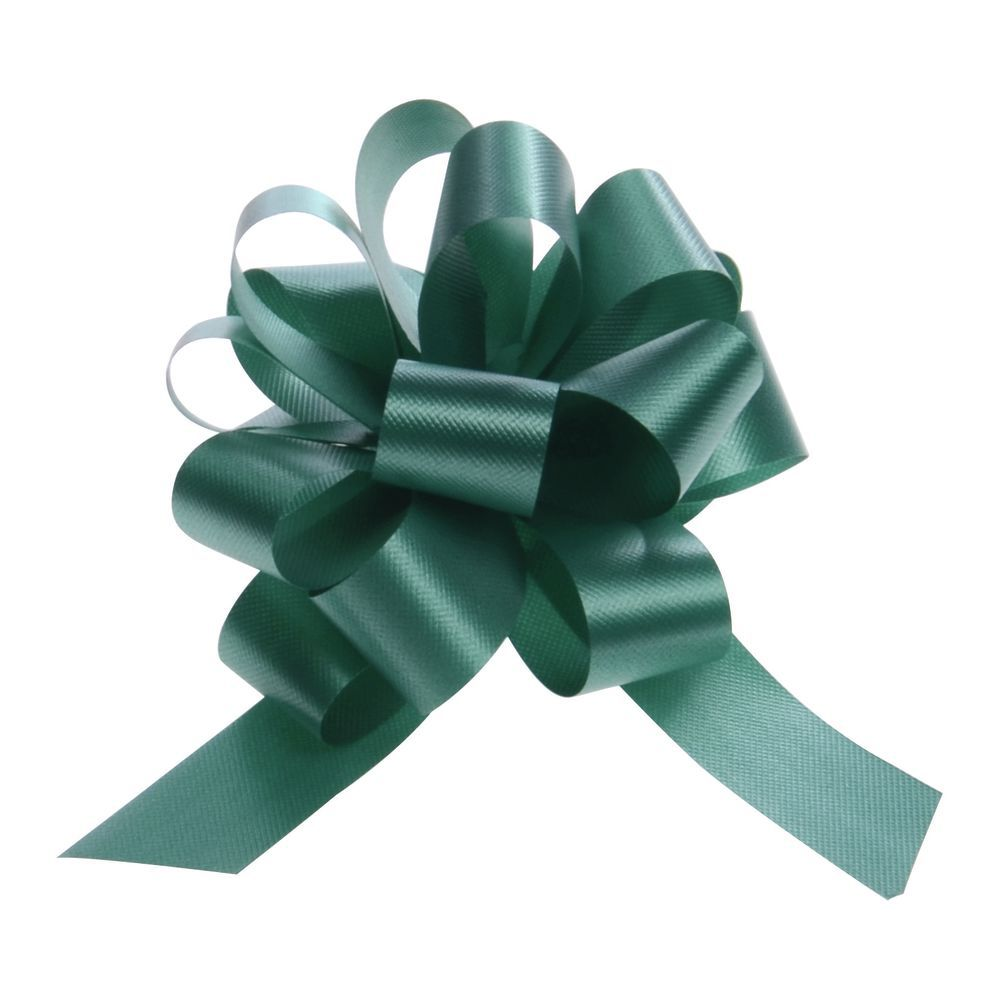 4 (W) Hunter Green Pull Bows