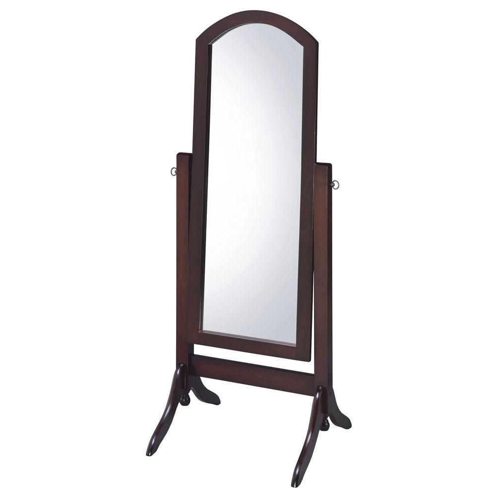 Barrington Cheval Full-Length Walnut Floor Mirror