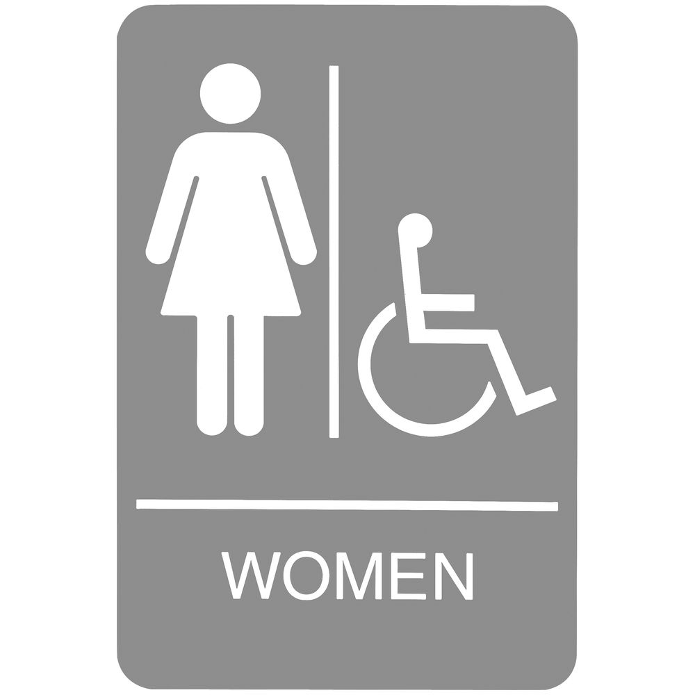 Women's Wheelchair Accessible Sign
