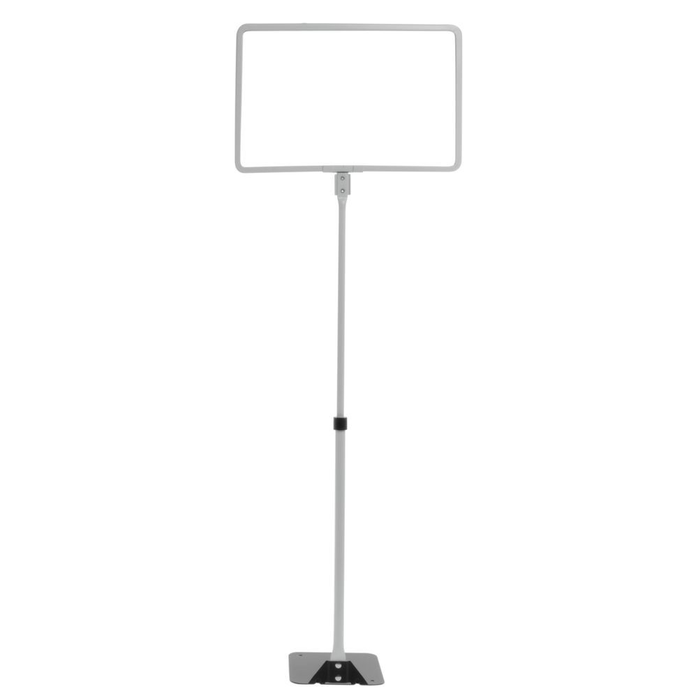 11 x 7 White Retail Sign Holder with Shovel Base
