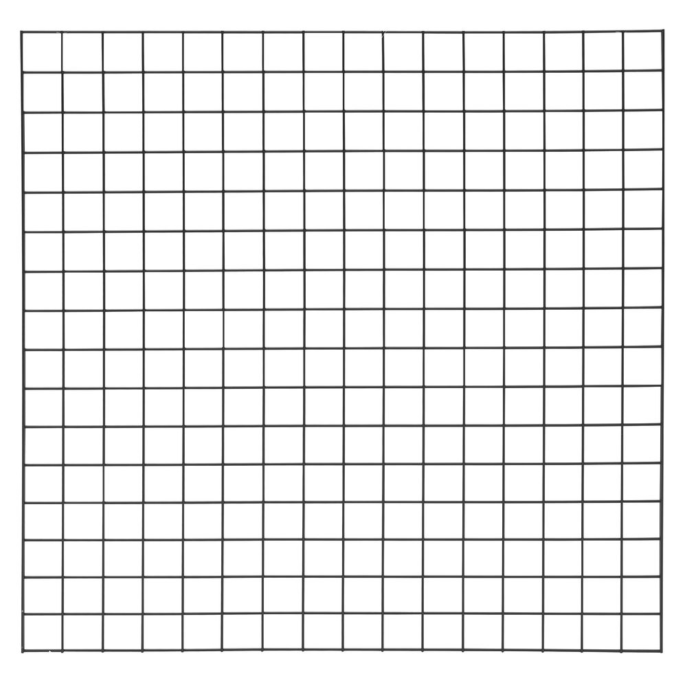 4 x 4 Black Grid Panel