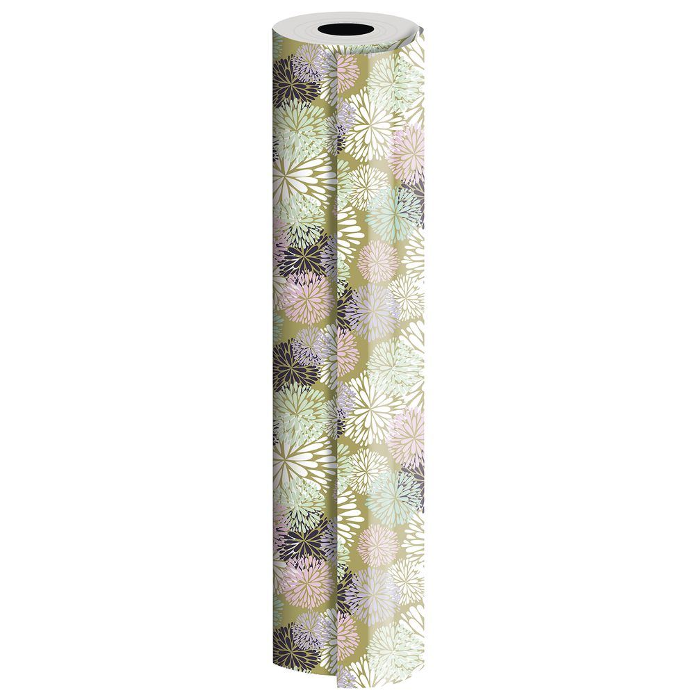 Delicate Flower Wrapping Paper Roll, Half Roll
