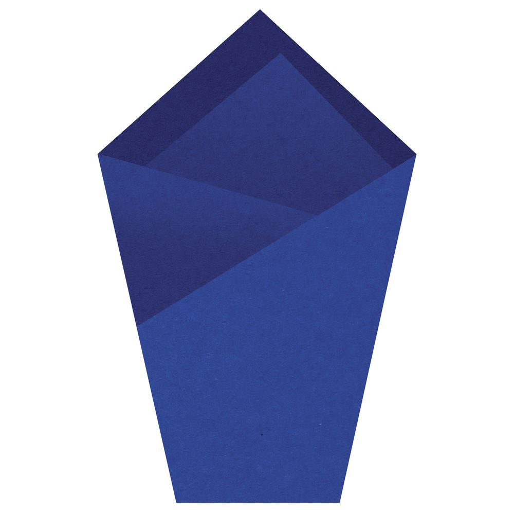 Parade Blue Colored Tissue Paper