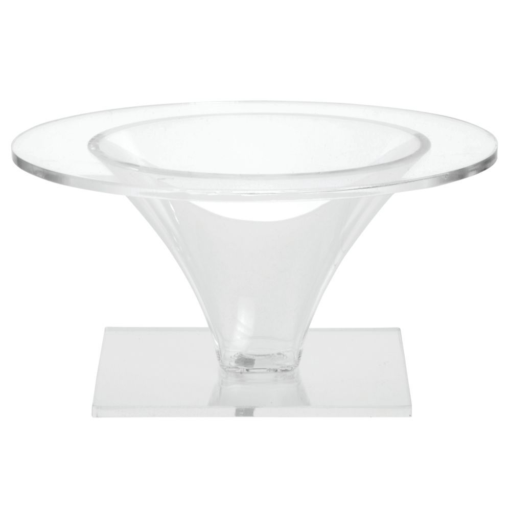 Delfin® Acrylic Riser has a Combination Black and Clear Design