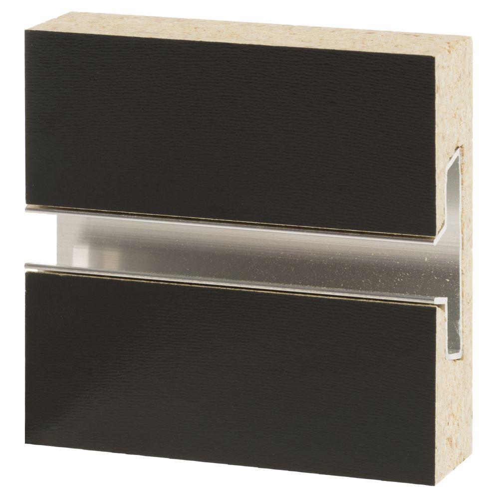 8 X 4 Black Slatwall With Aluminum Insert