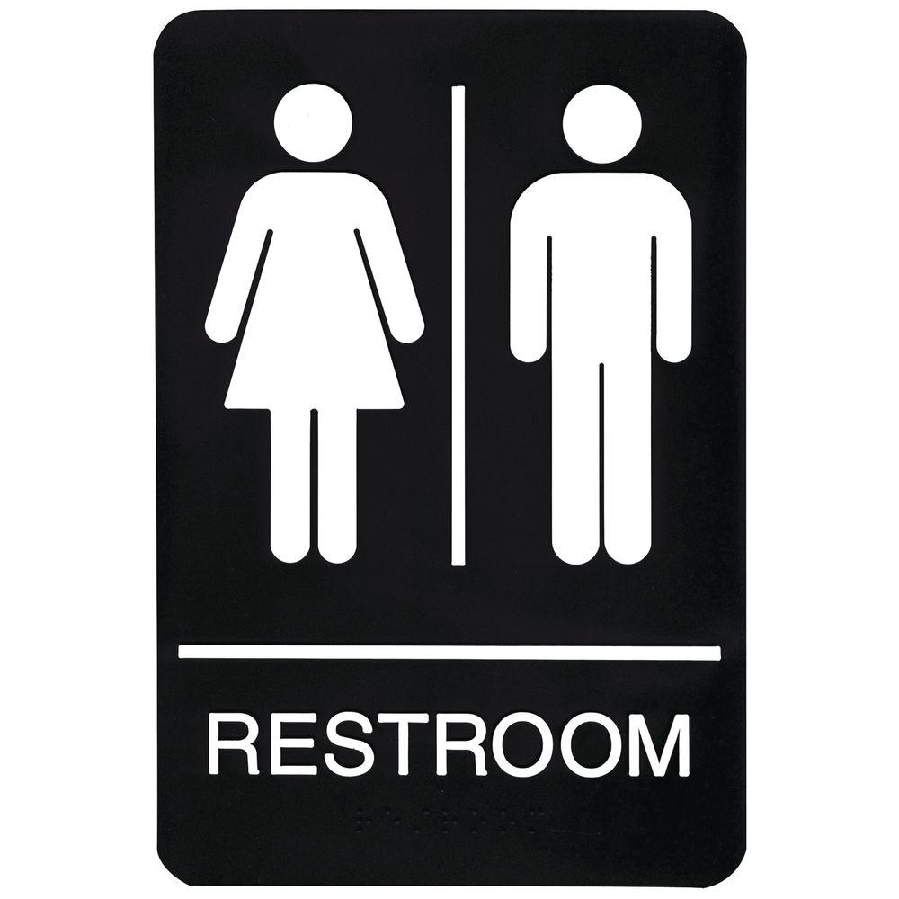 ADA Compliant Unisex Restroom Sign