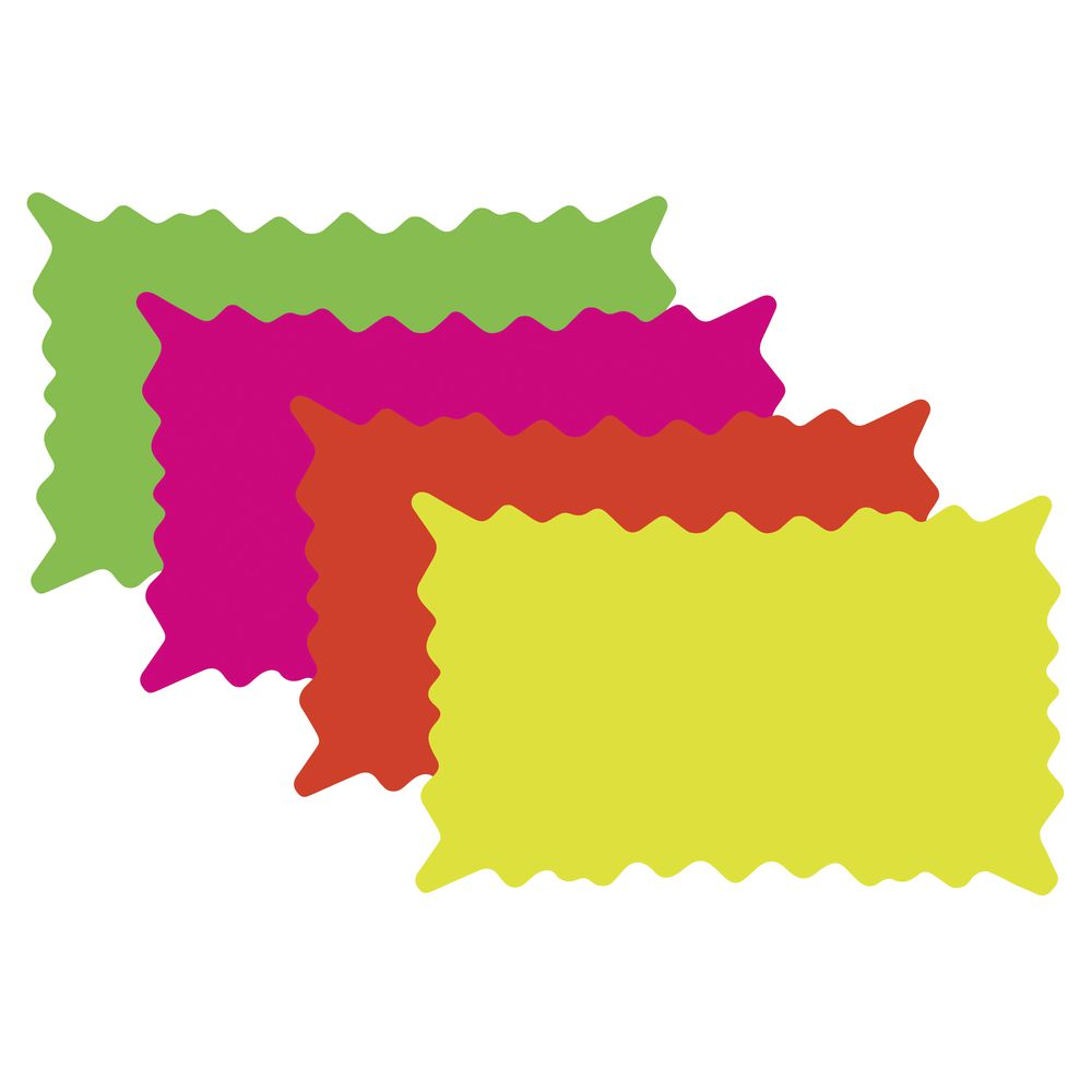 CARD, RECT.STARBURST, 3X5 ASSORTED COLORS