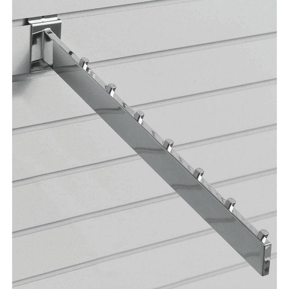 Slatwall Waterfall Hooks Include Cube Stops to Secure Merchandise