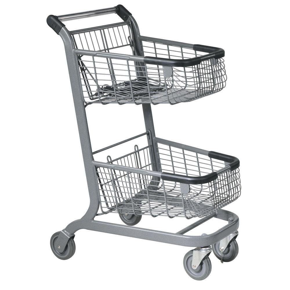 Express Shopping Cart with Rear Basket