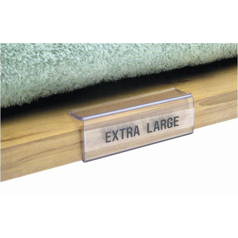 clear wood shelf label holders 2 7 8 x 3 4 w x h rh retailresource com plastic label holders for wood shelves Wooden Shelf Label Holders