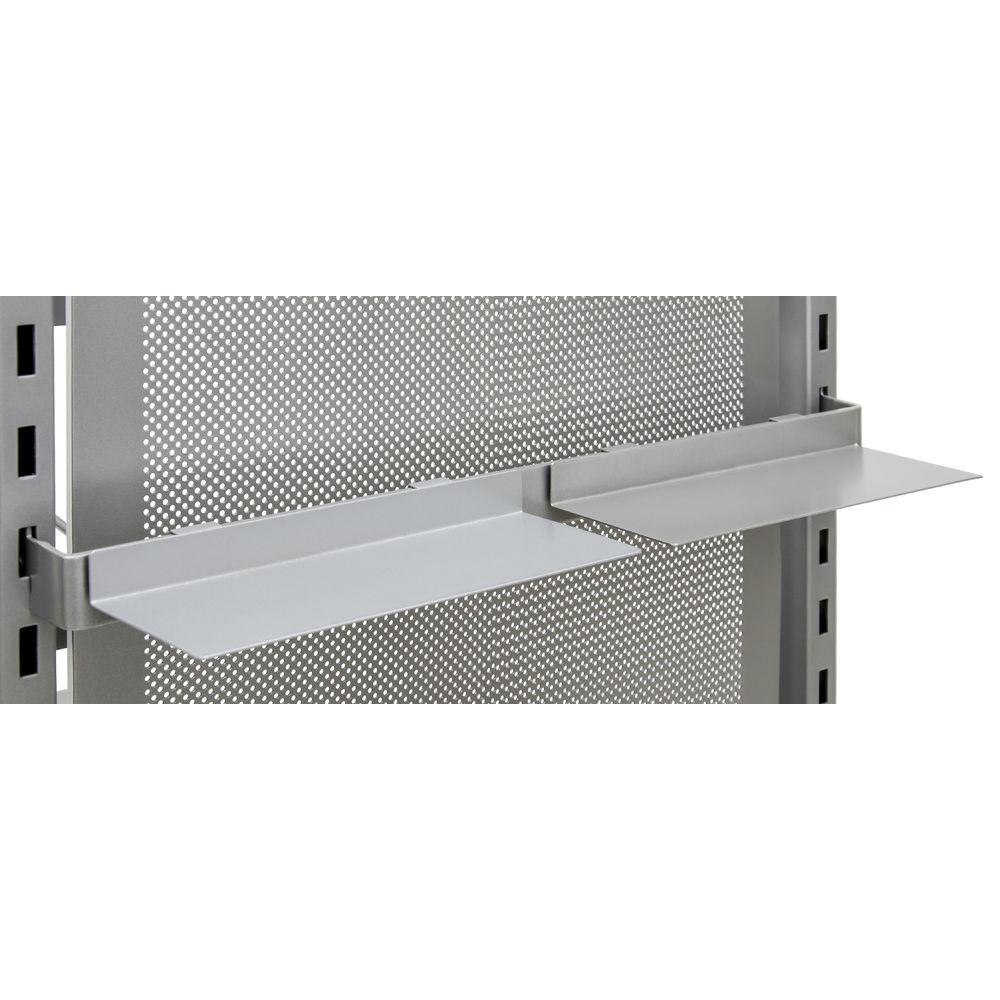 Metallic Silver Shoe Shelf