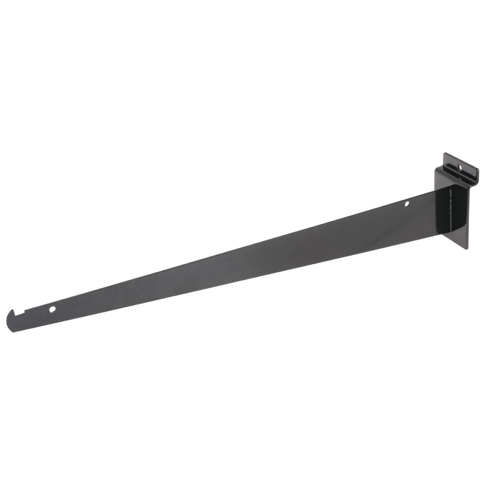 "BRACKET, SHELF, SLATWALL, 16"", BLACK"