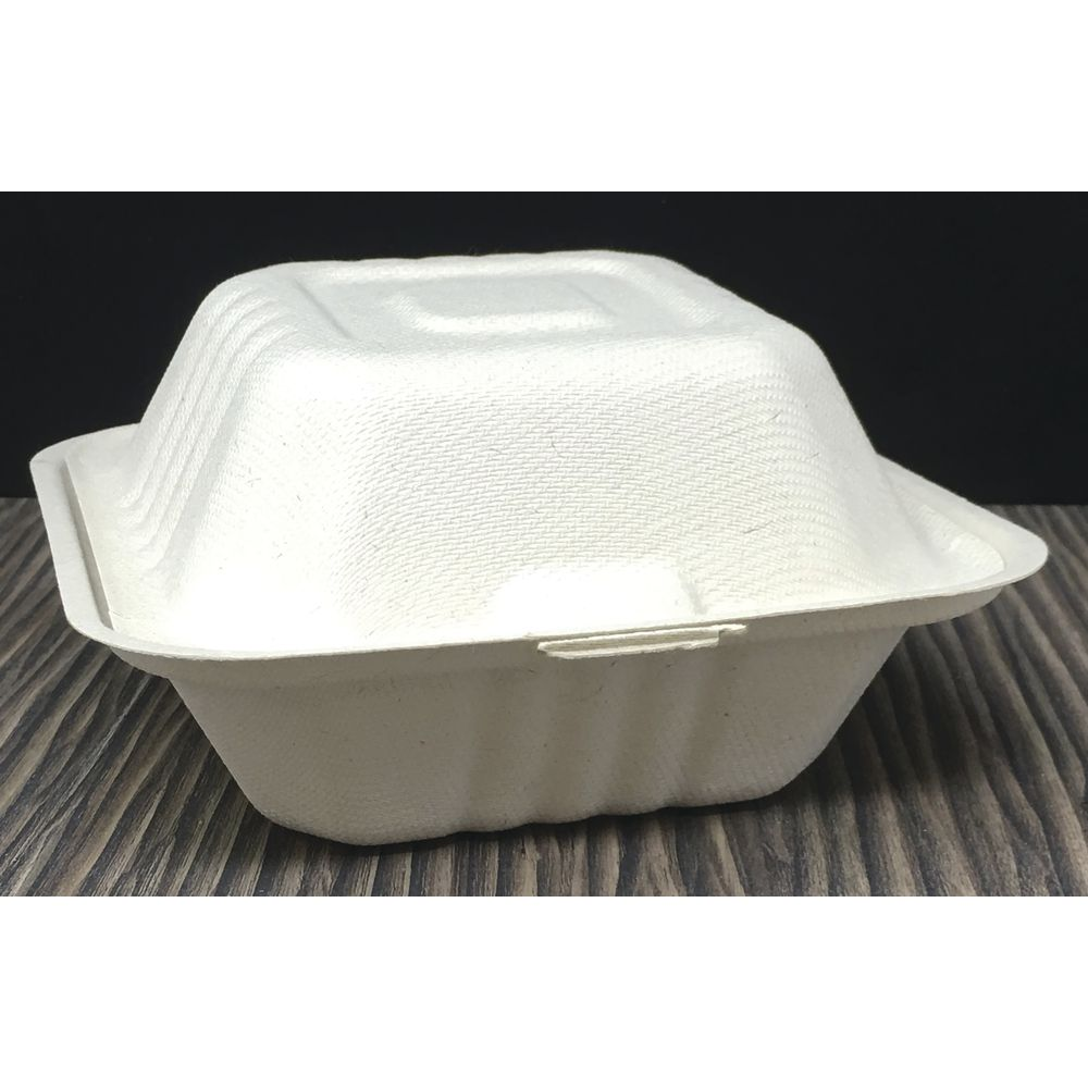 CONTAINER, DISP, TAKE OUT, FIBER, 6X6X3