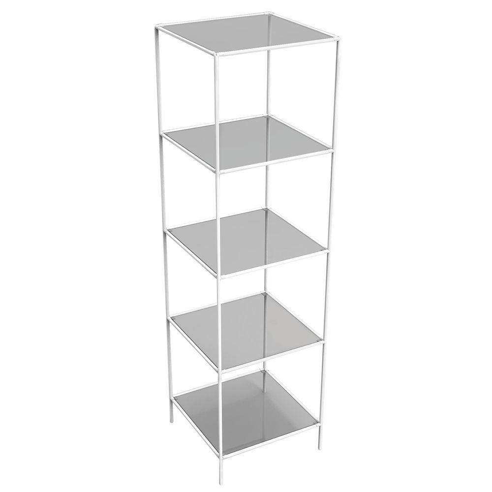 White Glass Shelf Tower
