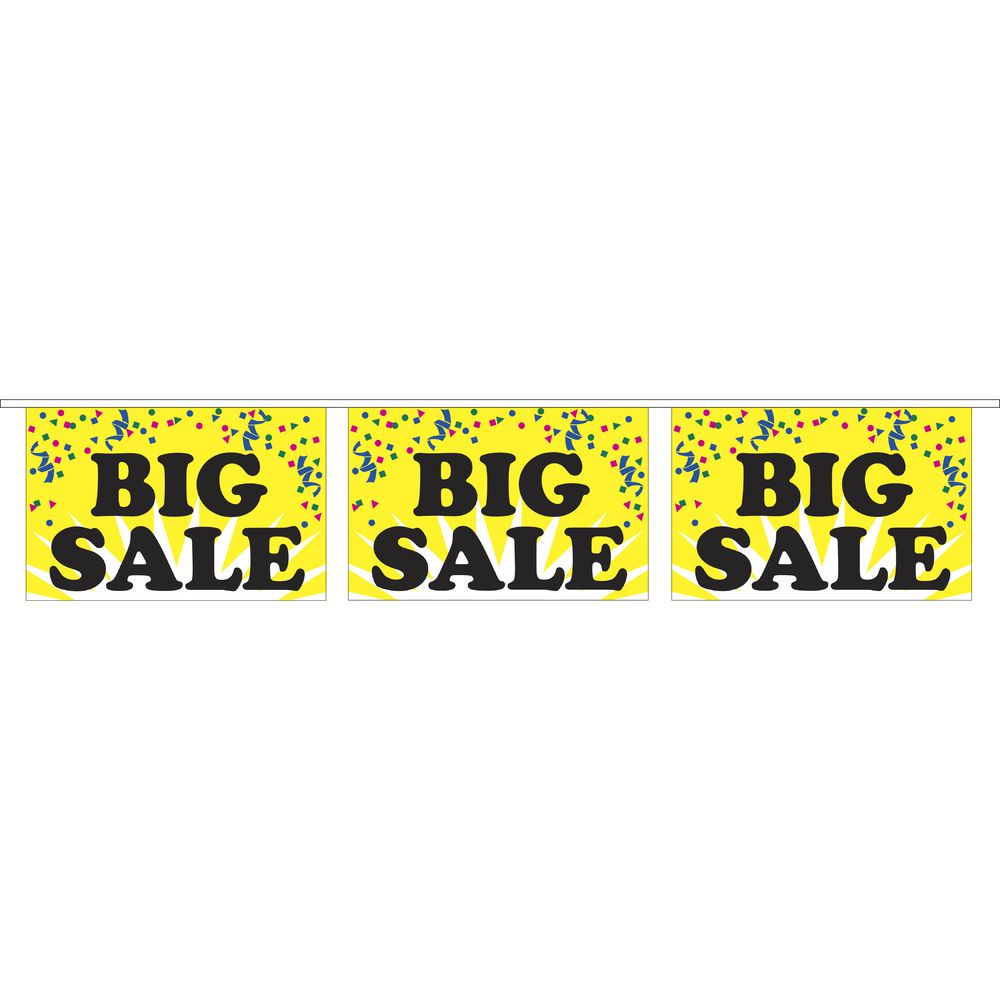 """Big Sale"" Pennant Banner"