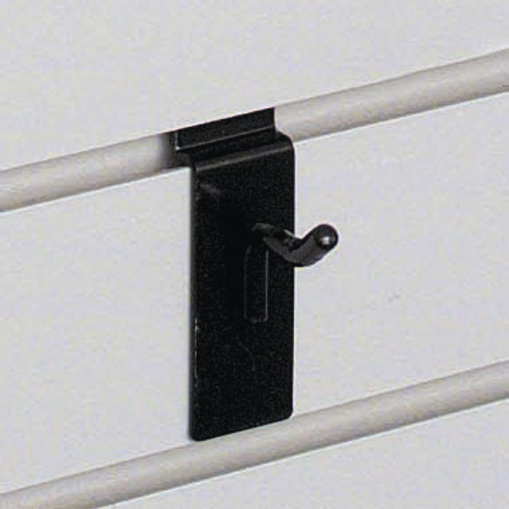 "1"" Black Slatwall Hooks"