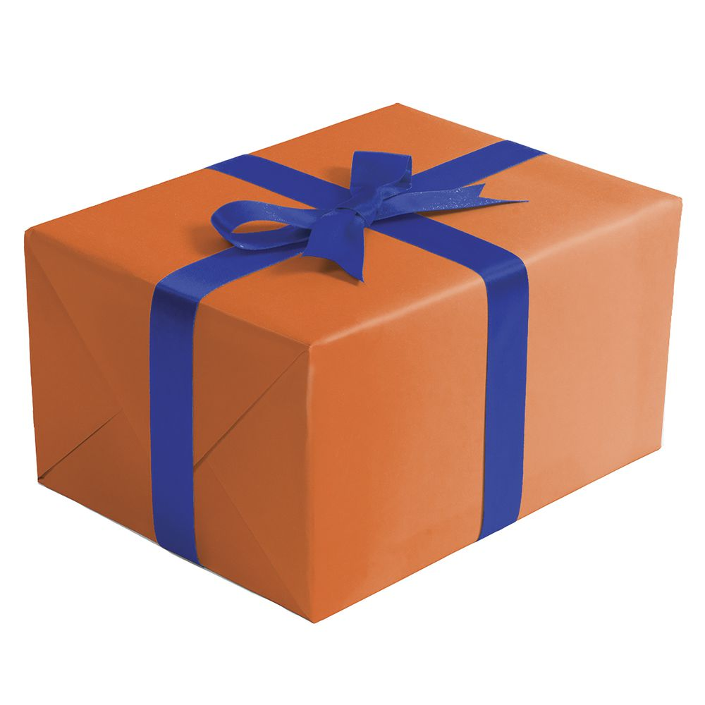 "GIFT WRAP, ORANGE, MATTE, 1/4 ROLL, 24""W"
