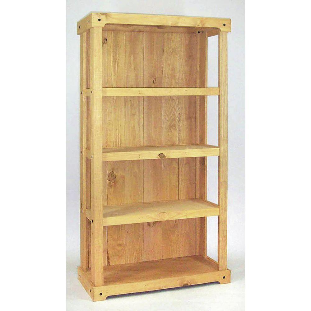 5 Tier Rustic Wood Shelving Unit