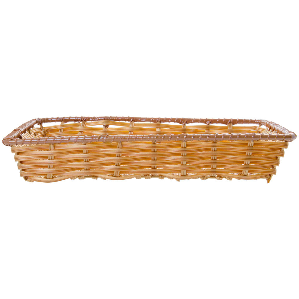 "Expressly Hubert® Tri-Cord Washable Wicker Display Basket Natural 16""L x 12""W x 2 1/2""D"
