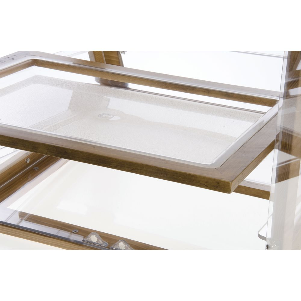 "Cal Mil Bakery Display Case Madera Collection 21""L x 21 1/2""W x 21""H Wood/Acrylic"