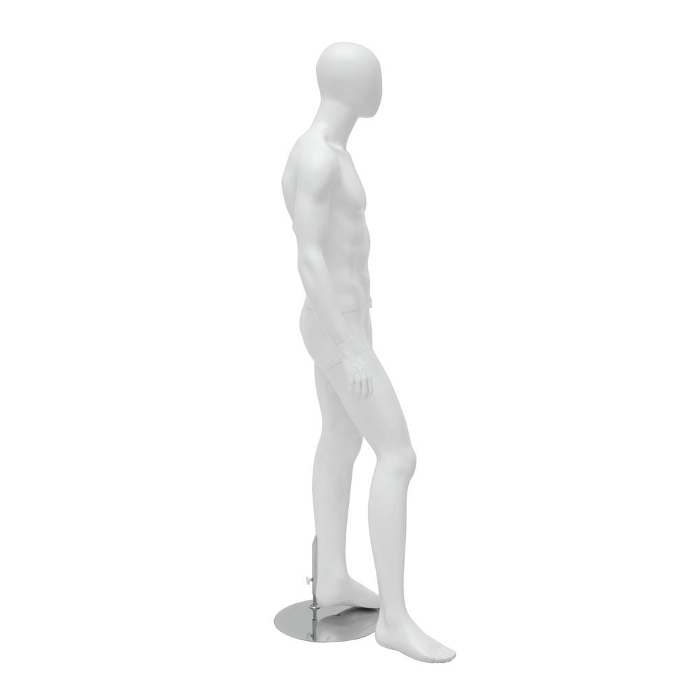 Hand on Hip White Abstract Male Mannequin