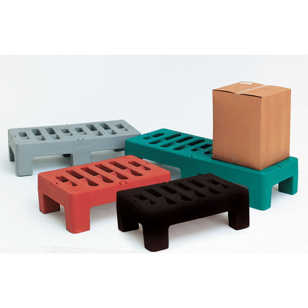DUNNAGE RACK, POLY RED, 24X60X12