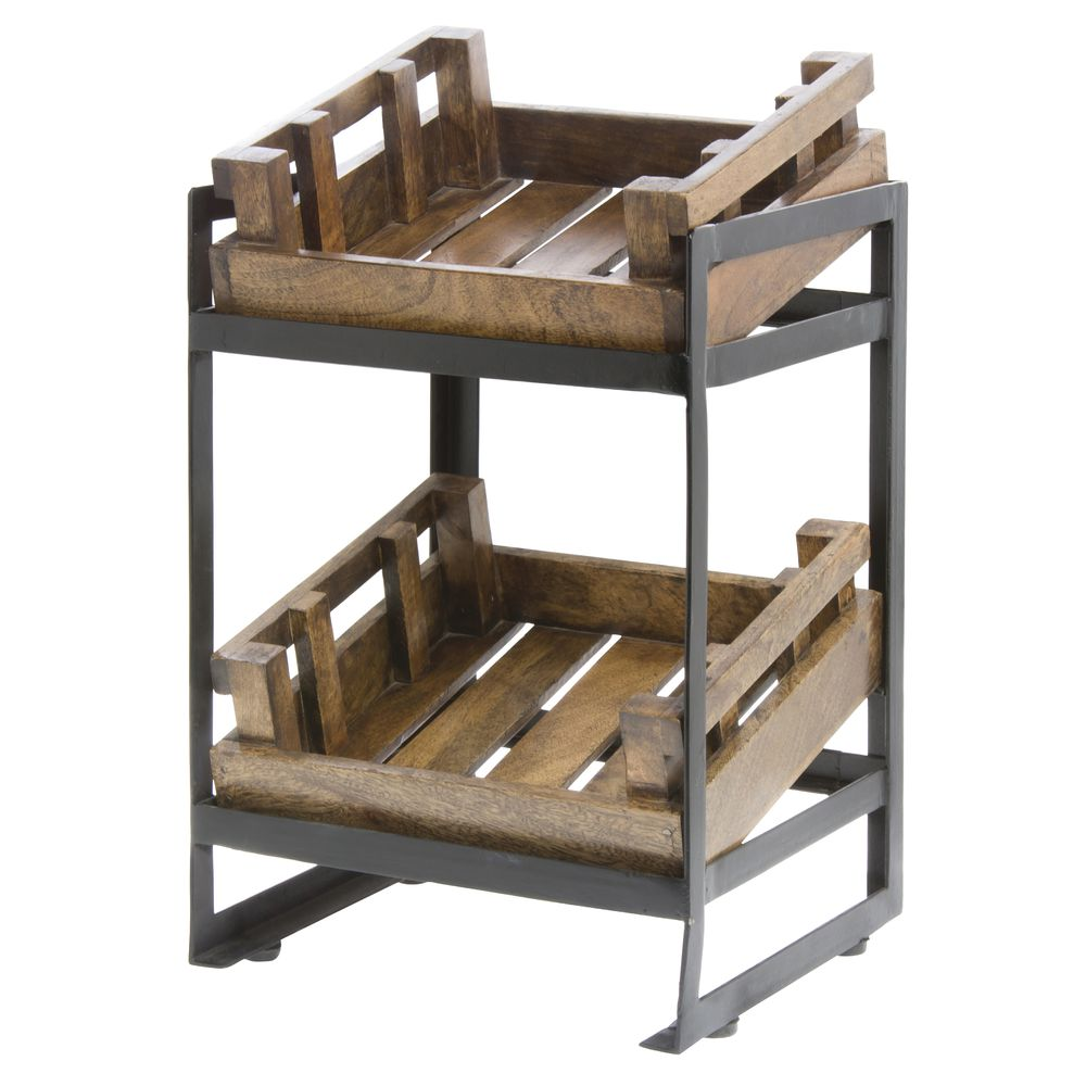 CRATE STAND, FARMERS, COUNTERTOP, W/2 CRATE