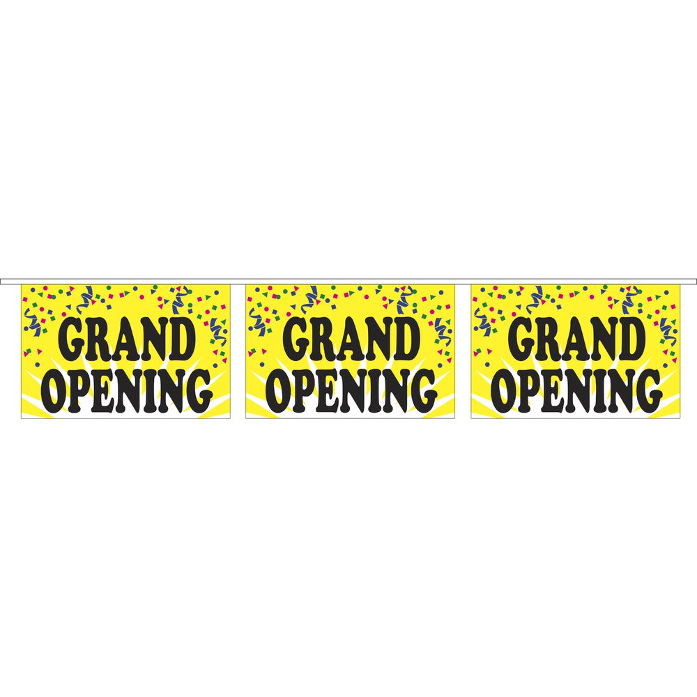 """Grand Opening"" Pennant Banner"