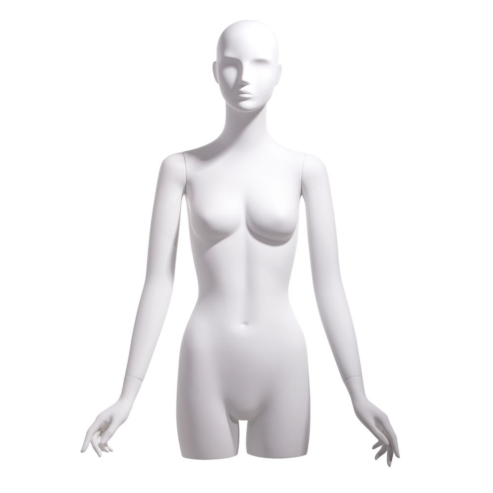 Arms at Sides Female Bust Form