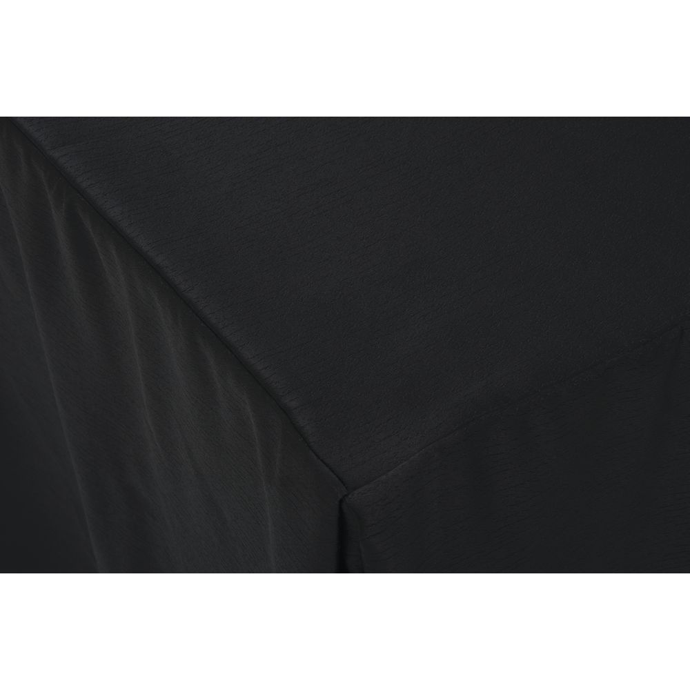 """Snap Drape© Fitted Table Covers Pinnacle Black Polyester  96""""L x 30""""W x 30""""H"""