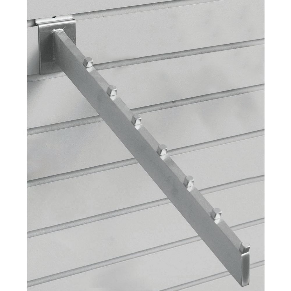 Slatwall Waterfall Hooks Feature Square Stoppers to Keep Merchandise Separate