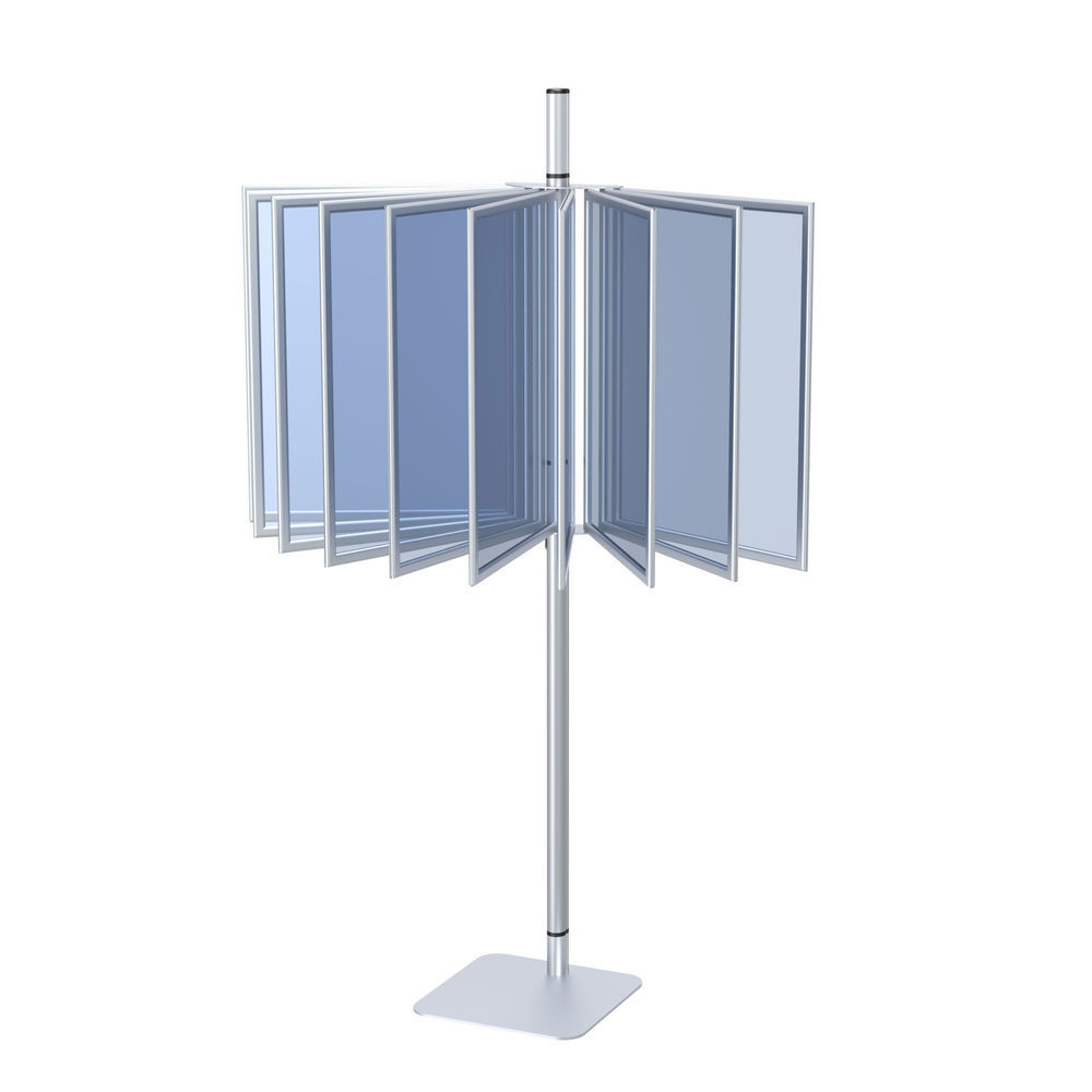 24 x 36 Poster Display Rack Silver