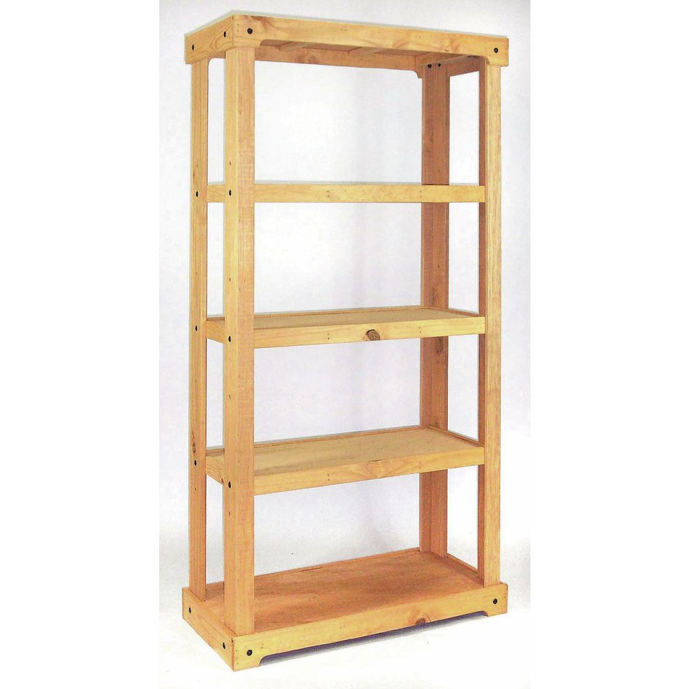 Rustic Wood Shelving with Four Display Areas