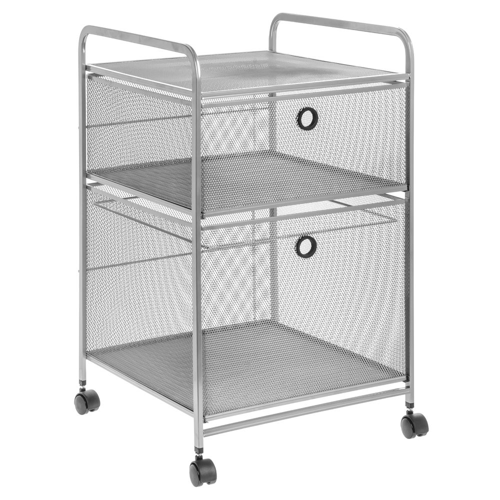 CART WIRE MESH MOBILE 2DRAWER SILVER  sc 1 st  Retail Resource & 2 Drawer File Storage Wire Mesh Cart