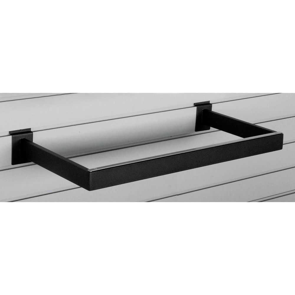 Black U-Shaped Hangrail Features Tubing in Rectangular Form