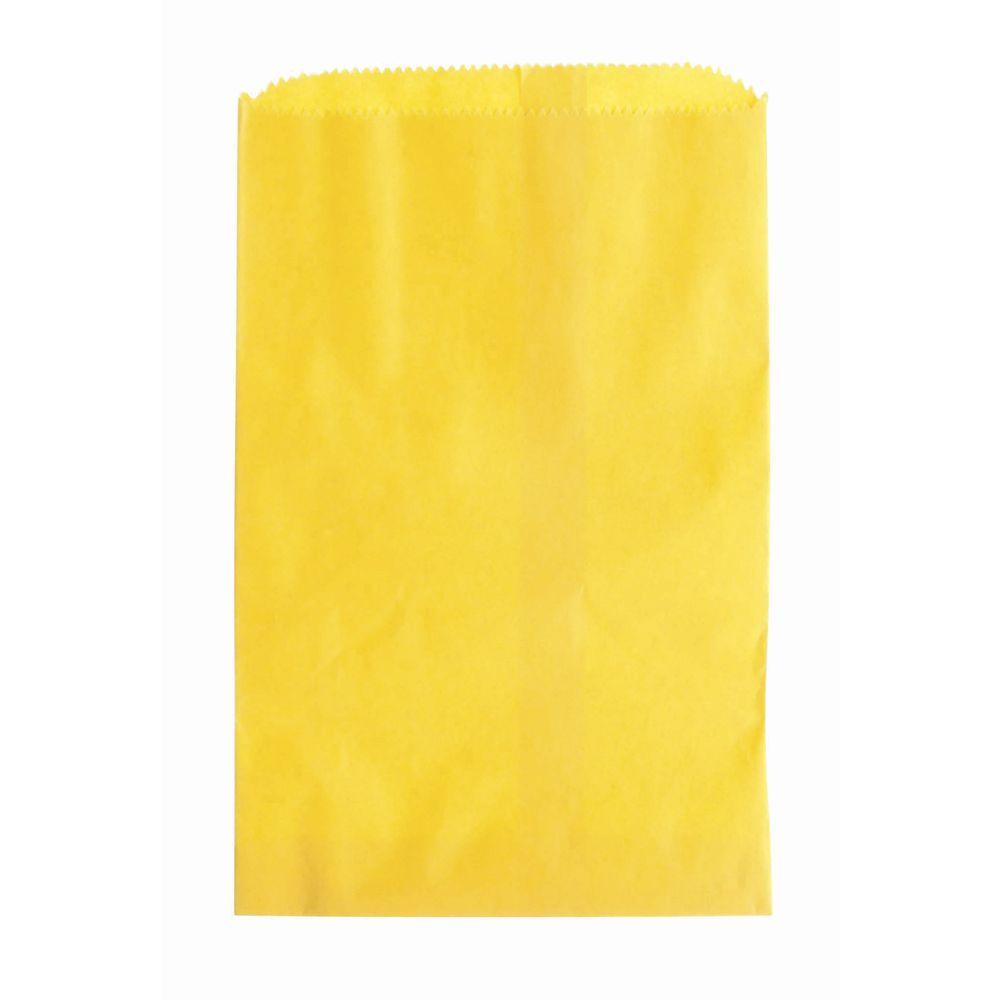 "6 1/4"" x 9 1/4"" Merchandise Bags Wholesale, Yellow"