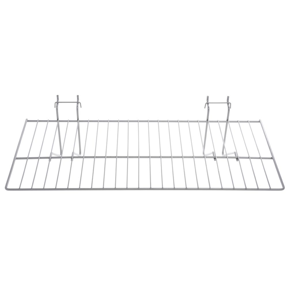 "SHELF, FLAT, WIRE, QUEUING, SILVER, 24""W"