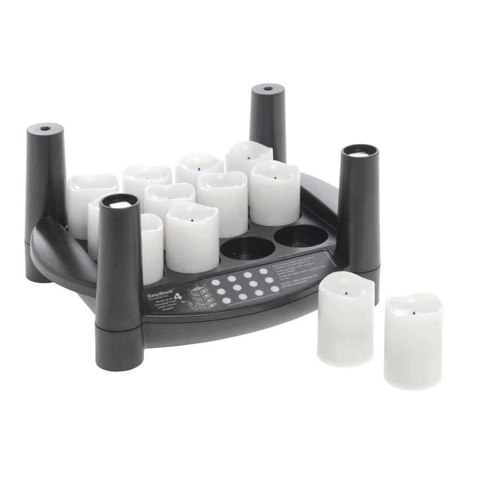 Easy Stack Charging Tray Black