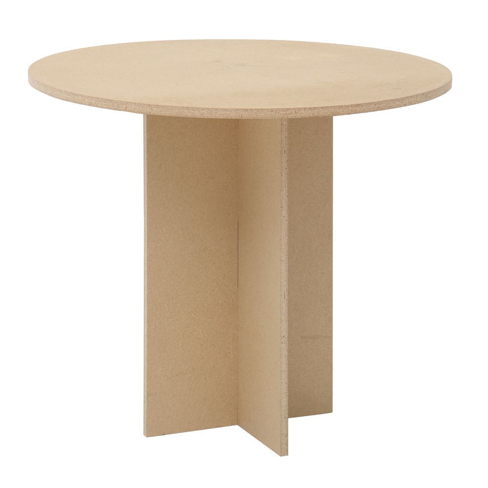 Maple Round Display Table