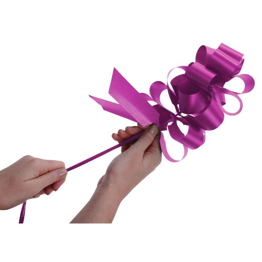 Magenta Flora-Satin Pull Bows