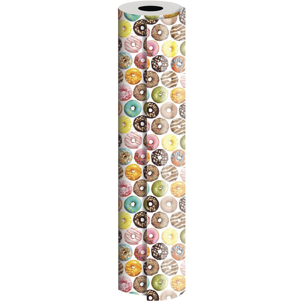 "GIFT WRAP, DONUTS, QUARTER ROLL, 24""W"