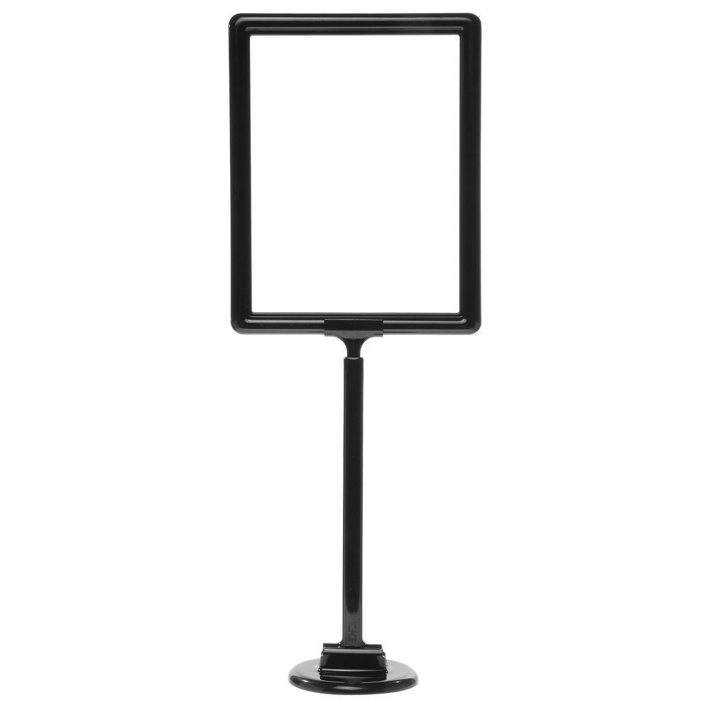 """11 x 8 1/2 Adjustable Sign Stand, Black, Stem 12""""-22"""""""