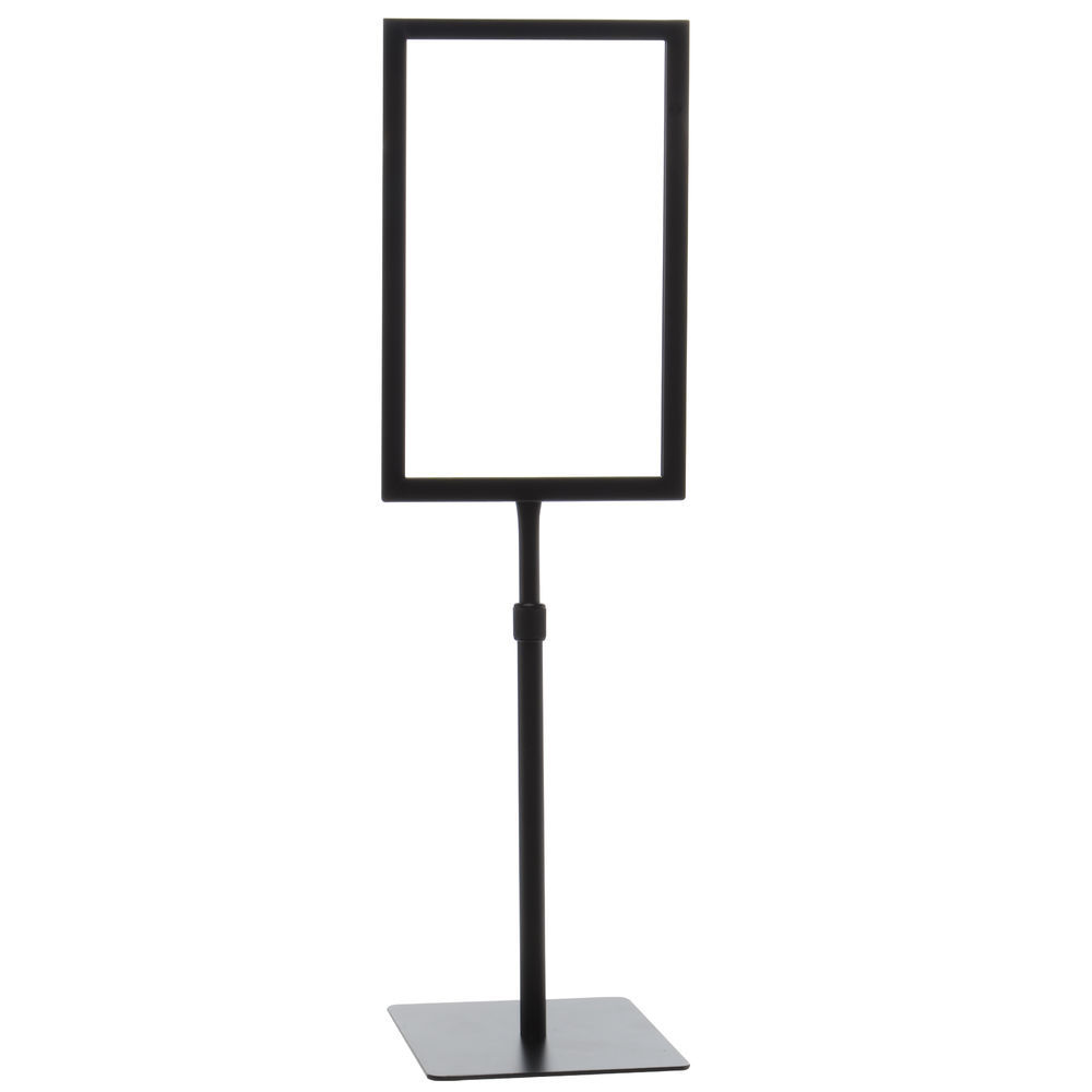 FRAME, SIGN, 7X11, BLACK, ADJ. STEM, SQ BASE