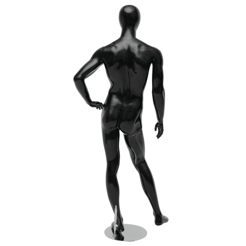 Hand on Hip Black Abstract Male Manniquen