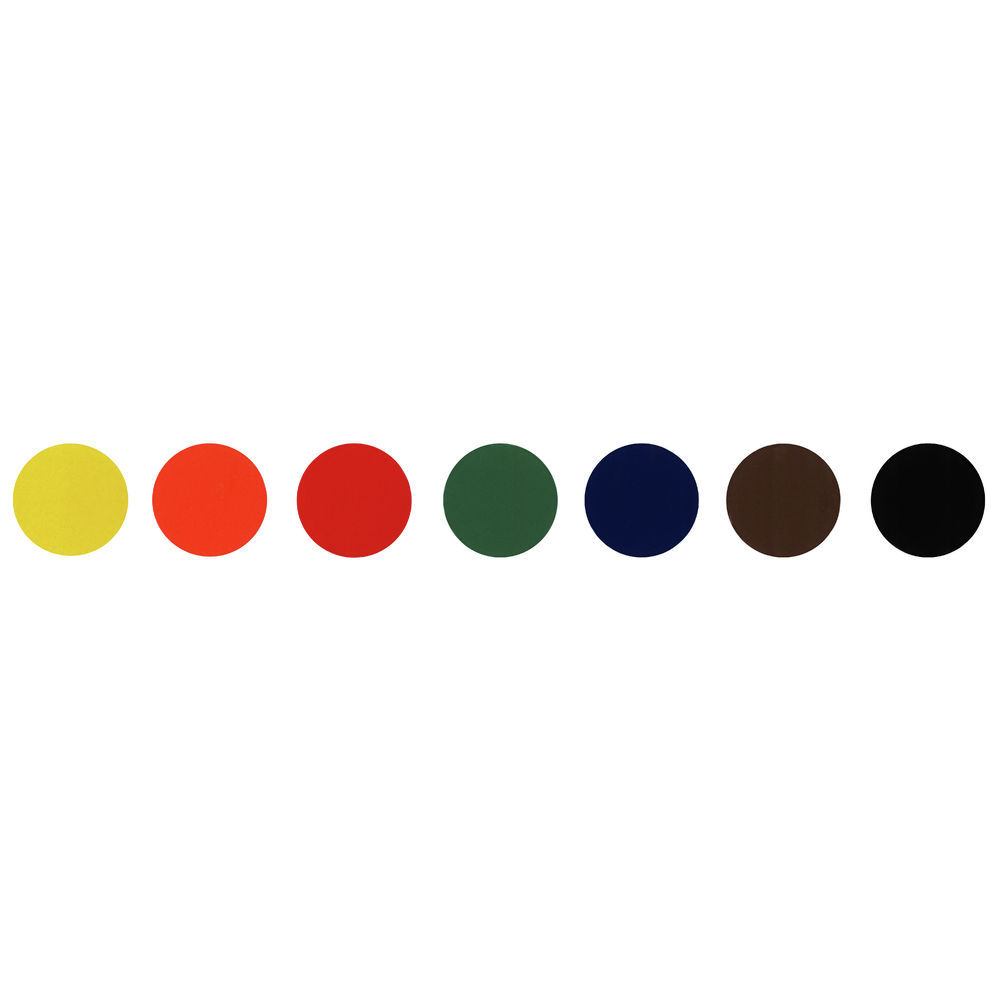 """Colored Dot Labels Convenience Pack Kit 3/4""""Dia"""