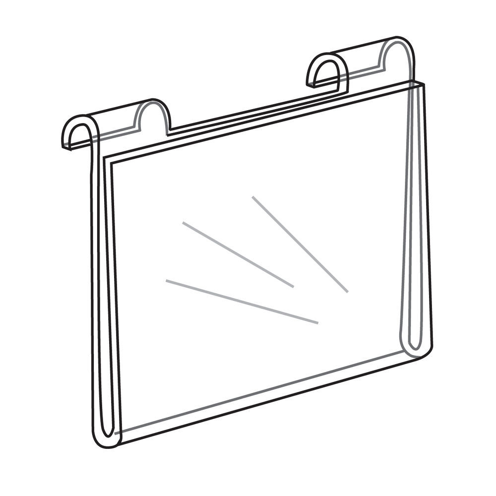 Gridwall Acrylic Sign Holder