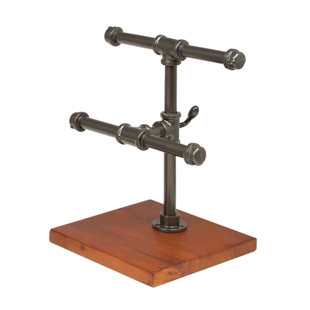 Industrial Pipe Tiered Jewelry Stand Small