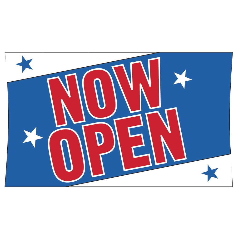 """Now Open"" Outdoor Banner"