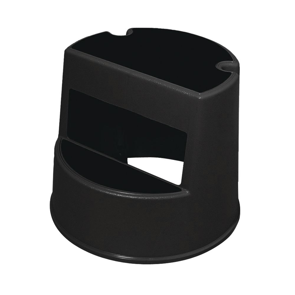 """STEP-STOOL, 13"""", BLACK, W/RUBBER CASTERS"""