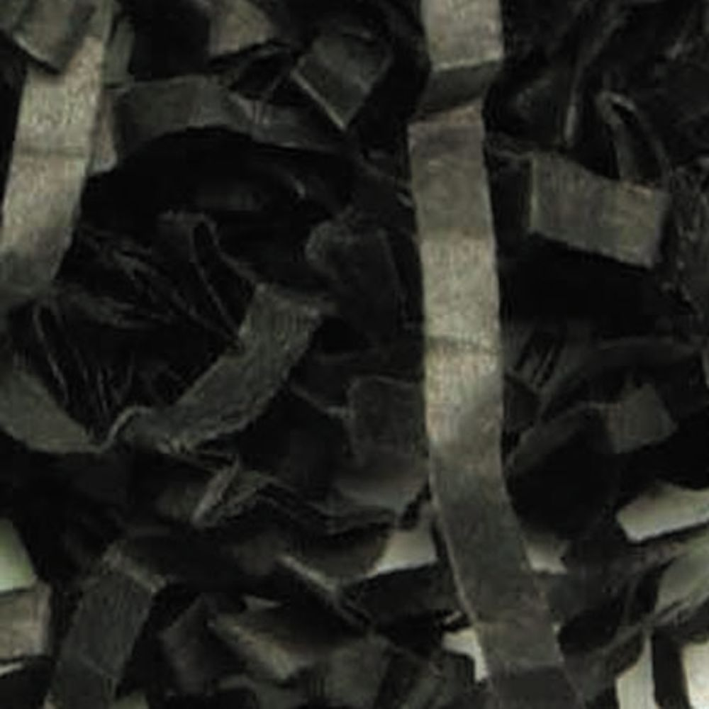Black Crinkle Paper Shred
